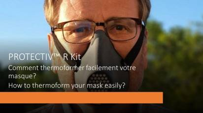 Protectiv™ R Kit is thermoformable at home